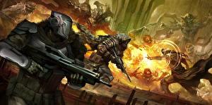 Image Destiny (video game) Warrior Assault rifle Fighting Magic Helmet Armour Fireteam Games Fantasy