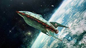 Picture Ships Surface of planets Futurama Take off Cartoons Space