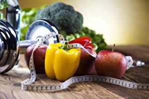 Hintergrundbilder Peperone Gemüse Fitness Hantel Maßband Lebensmittel