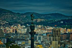 Bilder Spanien Gebäude Denkmal Abend Barcelona Säule Städte