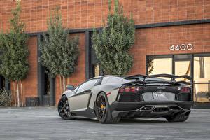 Bilder Lamborghini Tuning Hinten Luxus Roadster 2014-16 Vorsteiner Aventador-V Roadster Zaragoza Autos