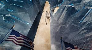 Sfondi desktop USA Disastro Tecnica Fantasy Bandiera Independence Day: Resurgence Washington Monument 2016 Film