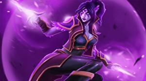 Picture DOTA 2 Templar Assassin Lanaya Magic Games Fantasy Girls