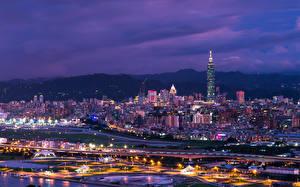 Fotos Haus China Taiwan Taipeh Nacht Megalopolis Städte