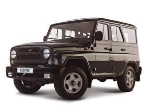 Pictures Russian cars UAZ Black White background Hanter automobile