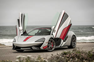 Hintergrundbilder McLaren Tuning Silber Farbe Offene Tür 2016 Vorsteiner 570-VX Autos