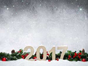 Hintergrundbilder Feiertage Neujahr 2017 Ast Kugeln Zapfen Vorlage Grußkarte