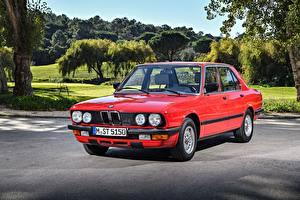Fotos BMW Retro Rot Metallisch 1983-87 524td Autos