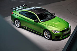 Images BMW Yellow green From above 2014-16 M4 Coupe M Performance Accessories Worldwide Cars
