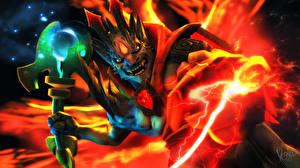 Image DOTA 2 Monsters Magic Warriors Lion vdeo game Fantasy