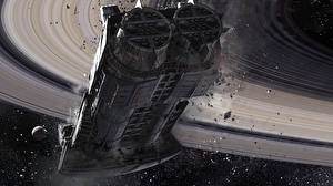 Bureaubladachtergronden Destiny (video game) Schip Cassini Derelict Computerspellen Fantasy Ruimte