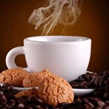 Bilder Kaffee Kekse Tasse Rauch Getreide Lebensmittel