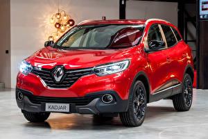 Tapety na pulpit Renault Czerwony Metaliczna 2016 Kadjar Hypnotic Samochody