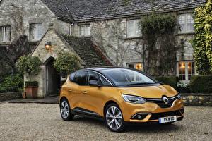 Papel de Parede Desktop Renault Amarelo Metálico 2016 Scenic automóvel