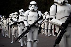 Images Star Wars - Movies Clone trooper Rifles Warriors Fantasy
