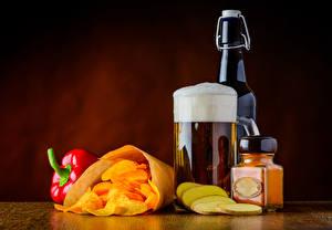 Image Beer Pepper Bottle Mug Foam Chips Jar Food