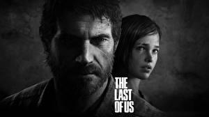Wallpapers The Last of Us Men 2 Black and white Face Beard Moustache Joel, Ellie Games Girls