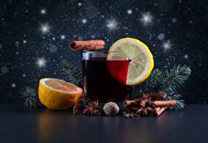 Hintergrundbilder Getränke Zitrone Zimt Sternanis Trinkglas Ast Lebensmittel