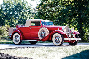 Fotos Retro Rot Roadster 1932 Packard Standard Eight Coupe Roadster