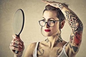 Wallpapers Hands Eyeglasses Tattoos Girls