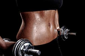 Hintergrundbilder Fitness Großansicht Bauch Tropfen Hantel Schön