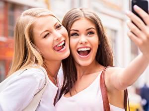 Images Hands Smile 2 Tongue Selfie female