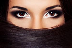 Fotos Augen Starren Haar Brünette Make Up