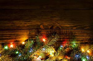Hintergrundbilder Feiertage Neujahr Bretter Ast Lichterkette