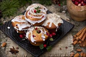 Hintergrundbilder Neujahr Zimt Muffin