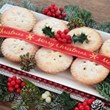 Fotos Neujahr Backware Beere Muffin Ast Lebensmittel