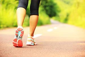 Bilder Wege Fitness Bein Sportschuhe Schuhsohle