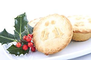 Hintergrundbilder Neujahr Backware Beere Muffin Blattwerk