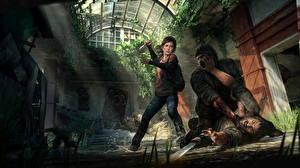 Hintergrundbilder The Last of Us Mann Messer Schlägerei Drei 3 Ellie, Joel Spiele Mädchens
