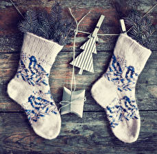 Picture Christmas Socks Boards Branches