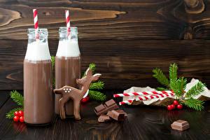 Hintergrundbilder Neujahr Schokolade Getränke Hirsche Kakao Getränk Bretter Flaschen 2 Ast Lebensmittel