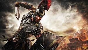 Hintergrundbilder Ryse: Son of Rome Mann Krieger Rüstung Schwert Helm Schild (Schutzwaffe) computerspiel Fantasy