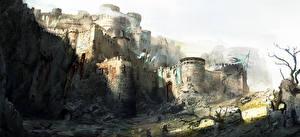 Bakgrundsbilder på skrivbordet For Honor Borg Krigare Fästning Datorspel Fantasy