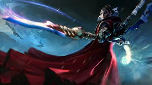 Pictures Warhammer 40000 Dawn of War Warriors Magic Spear Banshee vdeo game Girls