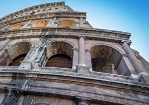 Images Rome Colosseum Italy Closeup Arch Cities