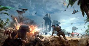 Picture Star Wars Battlefront 2015 Warrior Battles Technics Fantasy Explosions War vdeo game Fantasy