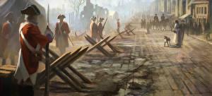 Wallpaper Assassin's Creed 3 Soldier Street