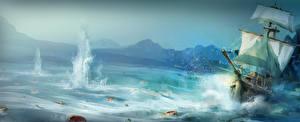 Images Assassin's Creed 3 Ship Sailing Sea