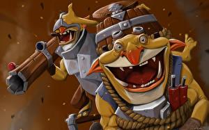 Fotos DOTA 2 Krieger Kanone Techies Spiele Fantasy