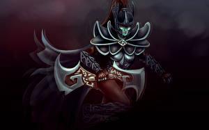 Images DOTA 2 Phantom assassin mortred Warriors Armor Helmet vdeo game Fantasy Girls