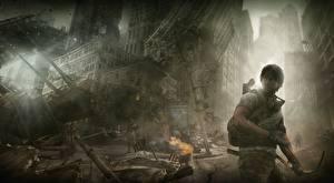 Fotos Ruinen Apokalypse Mann Bogenschütze I Am Alive Spiele Fantasy