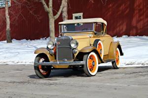 Fotos Chevrolet Antik Gelb Roadster 1931 Independence Sport Roadster
