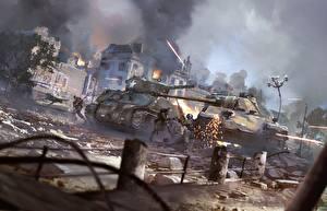 Bilder Panzer Krieg Soldaten War Thunder M4 Sherman Deutsch US Panther vs Sherman Spiele