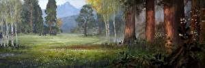 Hintergrundbilder Far Cry Mammute Hirsche Grünland Far Cry Primal Bäume Spiele