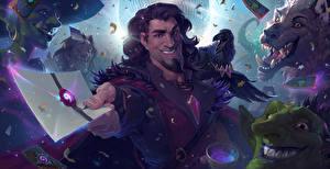 Bilder Hearthstone: Heroes of Warcraft Mann Krähen Brief Computerspiel Karazhan Spiele Fantasy