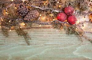 Hintergrundbilder Neujahr Feiertage Kugeln Ast Lichterkette Zapfen Vorlage Grußkarte